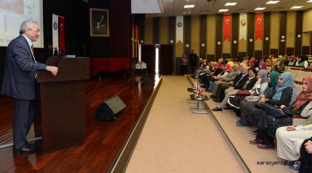 Osmaniye Kız Anadolu İmam Hatip Lisesi Öğrencileri Rektör Deveci'yi Ziyaret Etti